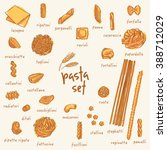 various pasta set | Shutterstock .eps vector #388712029