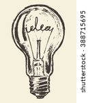 hand drawn light bulb  idea
