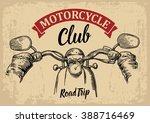 biker driving a motorcycle... | Shutterstock .eps vector #388716469