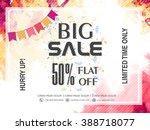 big sale banner  sale poster ...   Shutterstock .eps vector #388718077