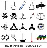 science related icons | Shutterstock .eps vector #388726609