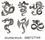 Dragon Tattoo White Background...
