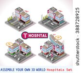 city hospital buildings and... | Shutterstock . vector #388728925