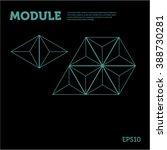 polygonal module on black... | Shutterstock .eps vector #388730281