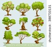 illustration of various trees... | Shutterstock .eps vector #388733131
