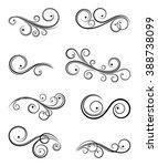 calligraphic design elements | Shutterstock .eps vector #388738099