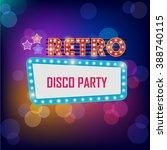 vector neon shining bigboard in ... | Shutterstock .eps vector #388740115