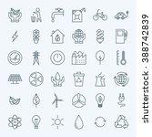 line green energy eco icons set....   Shutterstock .eps vector #388742839