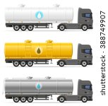 truck semi trailer with tank... | Shutterstock . vector #388749907
