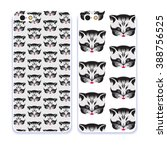 phone case collection. detailed ... | Shutterstock .eps vector #388756525