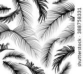pam leaves seamless pattern | Shutterstock .eps vector #388758331