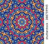 seamless oriental ornamental... | Shutterstock .eps vector #388759945
