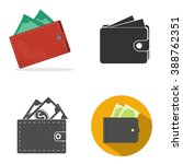 wallet with money | Shutterstock .eps vector #388762351