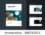 template layout of annual... | Shutterstock .eps vector #388763311
