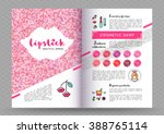 beauty makeup and lipstick... | Shutterstock .eps vector #388765114
