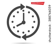 Gray Clock Icon Isolated On...