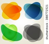 set of abstract colorful... | Shutterstock . vector #388772521