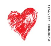 vector grunge heart  valentine... | Shutterstock .eps vector #388779151