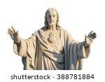 Jesus Christ Statue Isolated...