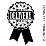 next day delivery icon on a... | Shutterstock .eps vector #388786099