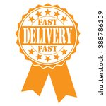 fast delivery icon on a white ... | Shutterstock .eps vector #388786159