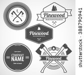 retro vintage logotype. vector... | Shutterstock .eps vector #388790941