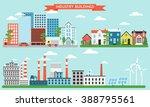 flat city life infographic set. ... | Shutterstock .eps vector #388795561