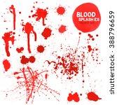 vector set of different blood... | Shutterstock .eps vector #388796659