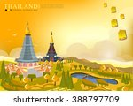 vector doi inthanon national... | Shutterstock .eps vector #388797709