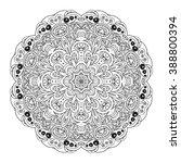 mandala eastern pattern.... | Shutterstock .eps vector #388800394