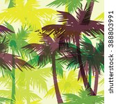 tropical summer print with palm.... | Shutterstock .eps vector #388803991