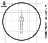 the tower of big ben   vector... | Shutterstock .eps vector #388804975