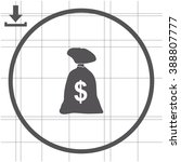 money bag vector icon. dollar