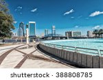jacksonville skyline and... | Shutterstock . vector #388808785