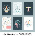 set of covers for notebooks sea ... | Shutterstock .eps vector #388811335