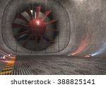 Giant Wind Tunnel With Steel...