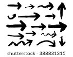 hand drawn arrows with paint... | Shutterstock .eps vector #388831315