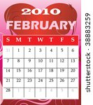 Vector Illustration of 2010 Calendar with a monthly, I have all 12 months designed separately or all 12 months in a single design. - stock vector