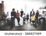 cheerful collaboration... | Shutterstock . vector #388837489
