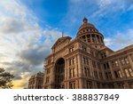 the texas capitol building ... | Shutterstock . vector #388837849