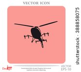 helicopter vector icon | Shutterstock .eps vector #388858075
