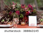 table setting at a luxury... | Shutterstock . vector #388863145