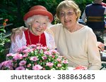 Two Affectionate Senior Women...