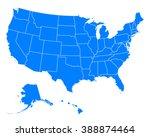 map of usa | Shutterstock .eps vector #388874464