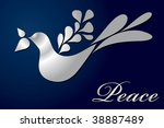 Vector Peace Dove Greeting Car...