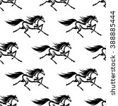 black and white equestrian...   Shutterstock .eps vector #388885444