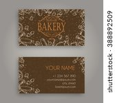 vector business card design... | Shutterstock .eps vector #388892509