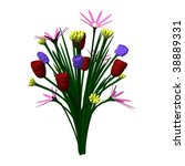 3d render of flower  bouquet | Shutterstock . vector #38889331