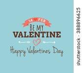 happy valentine day   Shutterstock .eps vector #388896625
