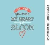 happy valentine day | Shutterstock .eps vector #388896685